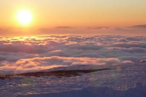 tramonto sulle nuvole