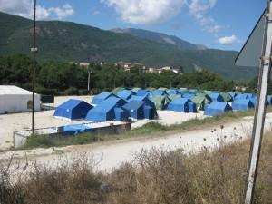 Tendopoli in Abruzzo
